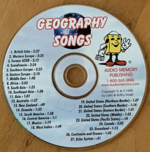 "photo of ""Geography Songs"" CD"