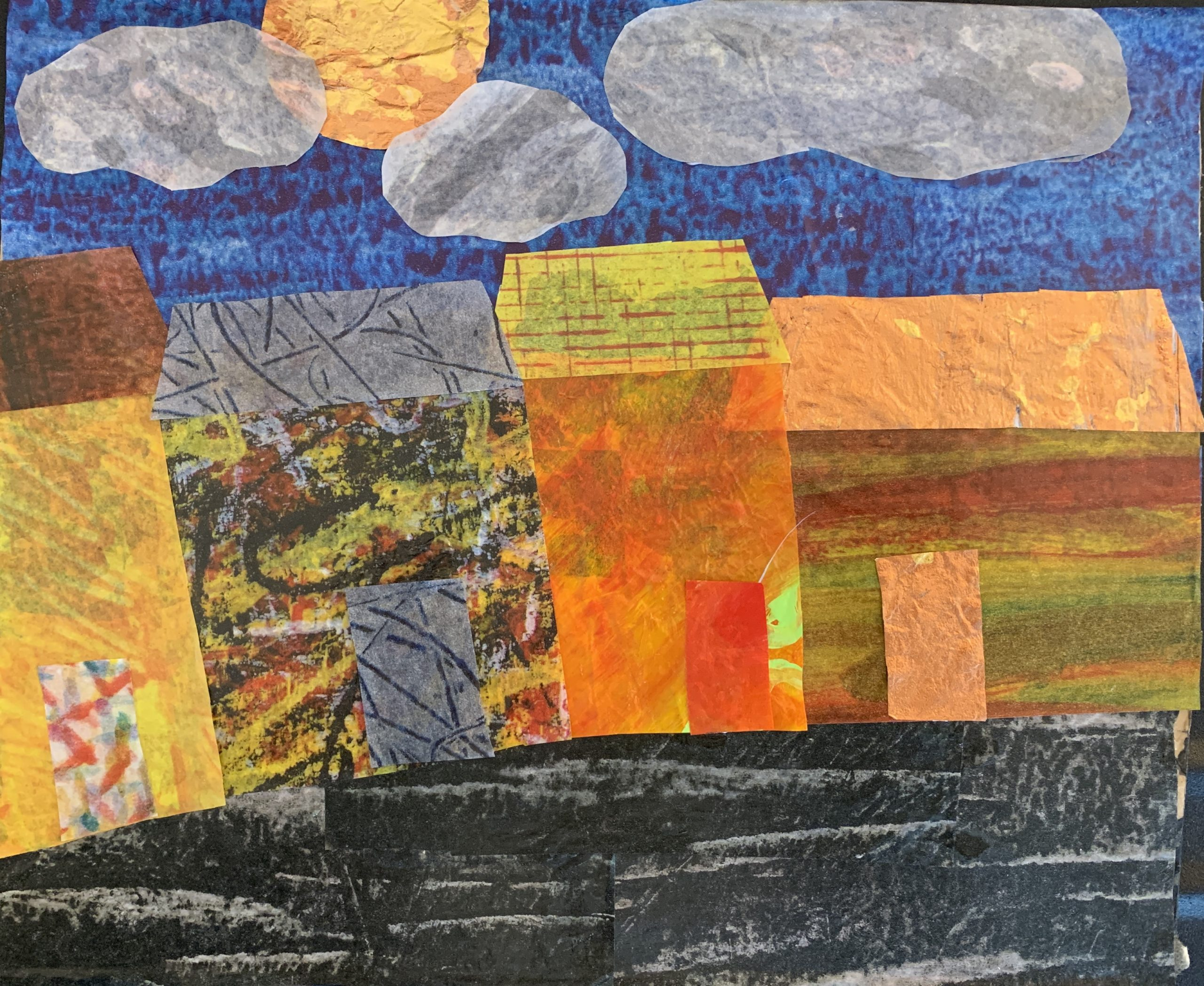 Making Collages for Our Book — Start with Setting